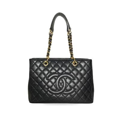 a3a8d81c61e7 하트 AVAILABLE CHANEL caviar grand tote bag D grand-shopping caviar black gold